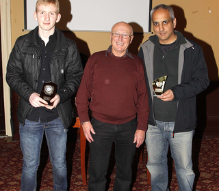 Awards 2014 - 4th Team players of the Season - John Murray and Samraj (collected by Karam Lally)