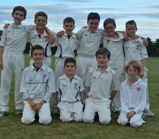 u10 boys after a victory against Linton