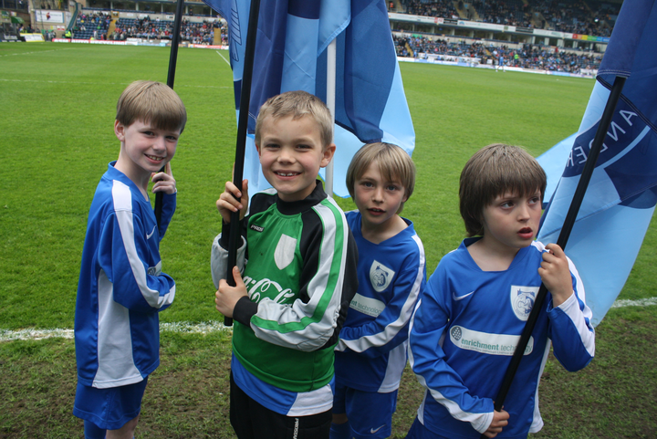 David, Oscar, Freddie & Callum on the WW pitch
