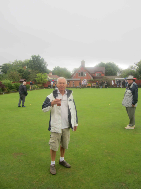 Sportsmen's Day regular Pete Woodhouse defies the weather