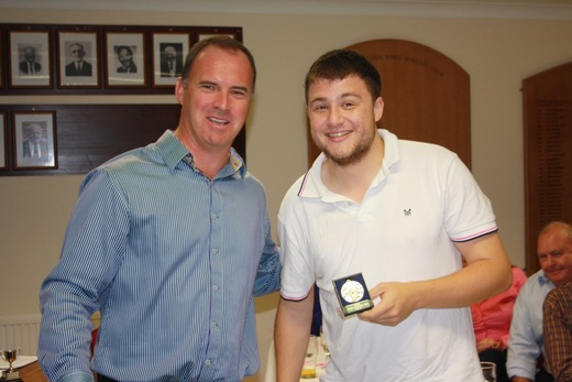Giles Ecclestone presents Andrew Leeman (I think) with the 5th XI player of the year award
