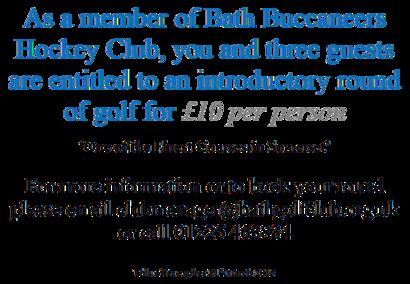 Golf Special Offer