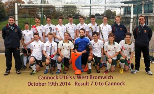 Cannock U16s 2014-15