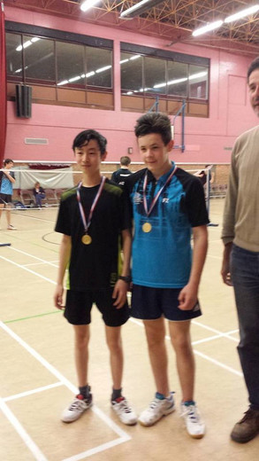 Alex Chan and Alex Watts, U15 doubles winners Colchester 2*
