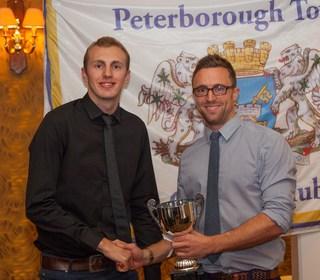PTCC 2014 award winners: Sunday 1st XI Player of the Year, Kieran Jones, left