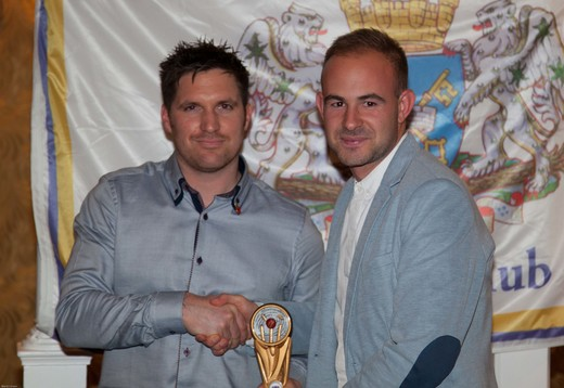 PTCC 2014 award winners: 2nd XI Player of the Year Matt Milner (right)