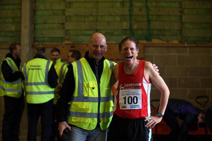 With Richard Polly the Course Director before the race.