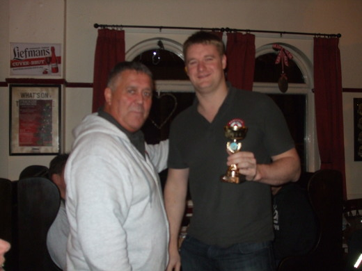 Graham Dickinson Player's Player of the year 2014 is Phil Stout