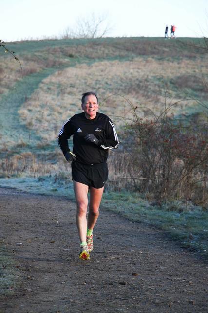 John Richardson at Great Notley parkrun, near Braintree, Essex.(13/12/14).