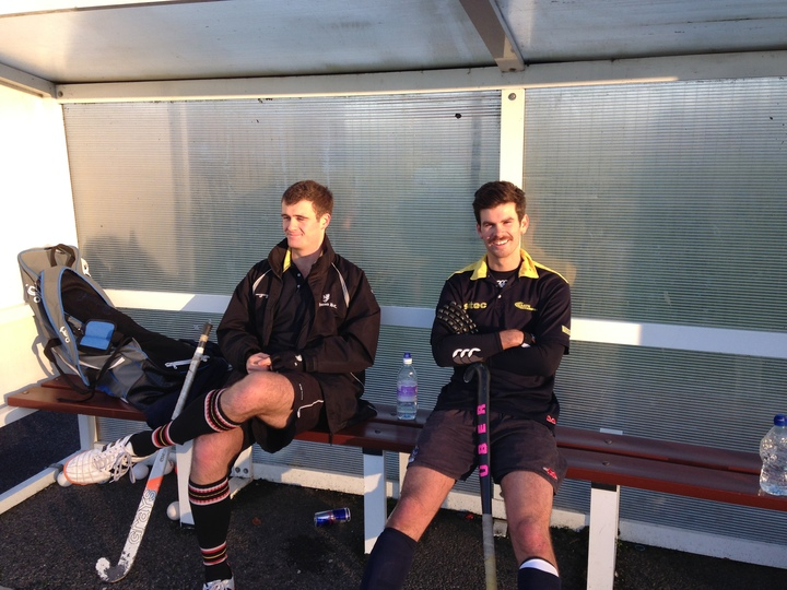 James and Tom warming the Bench - for the moment.