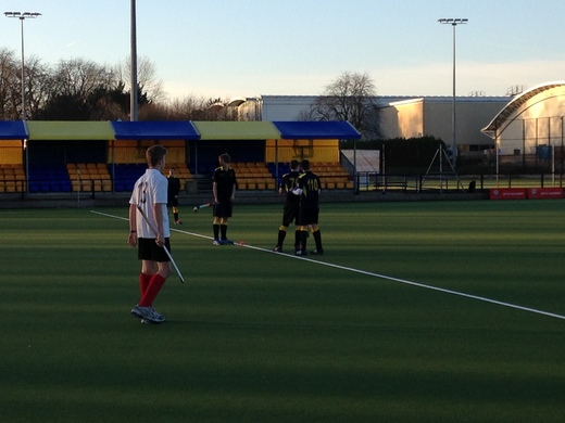 Start of the second half v Somerset Gryphons As, 13 Dec 14 - W4-0