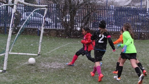 Morgan tapping in her 2nd goal after some good work from Katherine