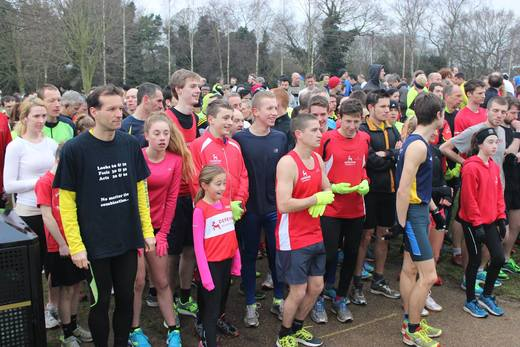 Our confident young runners on the start line at the Norwich parkrun (31/01/15)