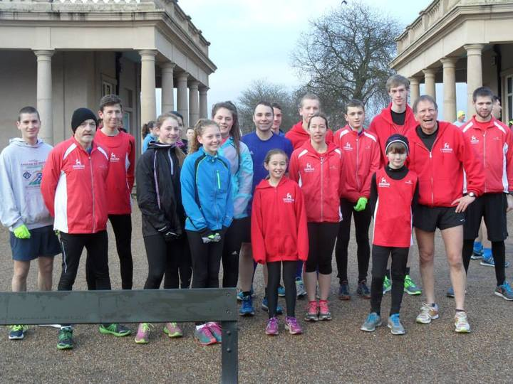 Across the age range, Dereham Runners come together at Eaton Park to run the Norwich parkrun (31/01/15)