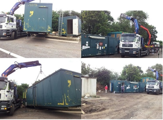 Donated Recycled Modular Units