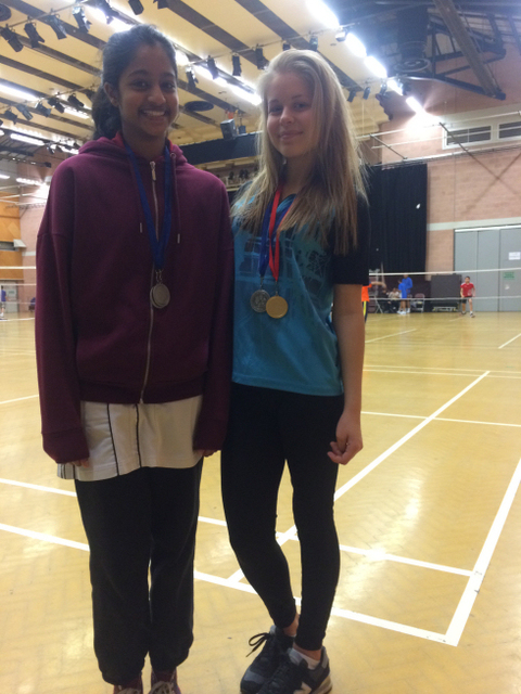 Thulsi and Chloe with their proudly won medals!