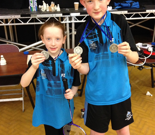 Tom and Chloe Lappin with their medals!