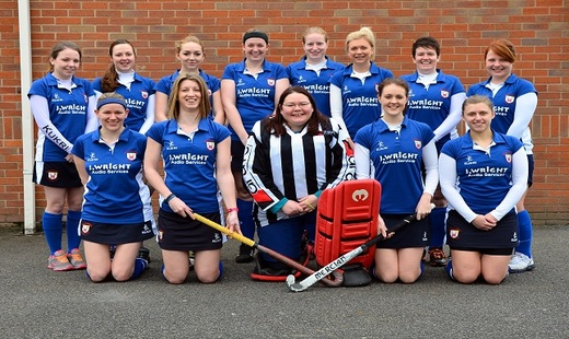 Ladies 1st Shropshire league winners 2014/2015