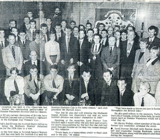 DWHC Cup Winners 1990 - civic reception