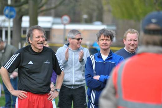 Applause for the 'parkrun tourist' before the start of the Chelmsford Central parkrun. (11-04-15)