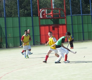 Young players in action