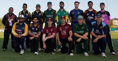 Tom Oakley and Aaron West (Captain) representing Brentwood CC in the Essex League XI vs Essex CCC in a T20 on 13th May