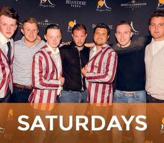 Sugar Hut - Guy Balmford, Tom Oakley and James Redwood with blazers. Aaron West, Bryan Atkins, James Welham and Joe Buttleman without.
