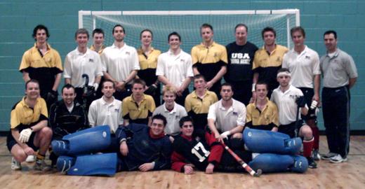 Hillhead indoor team versus USA from season 2005 (TBC)