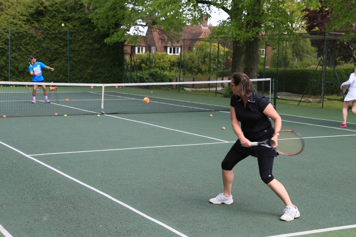 George running the new Cardio Tennis Session
