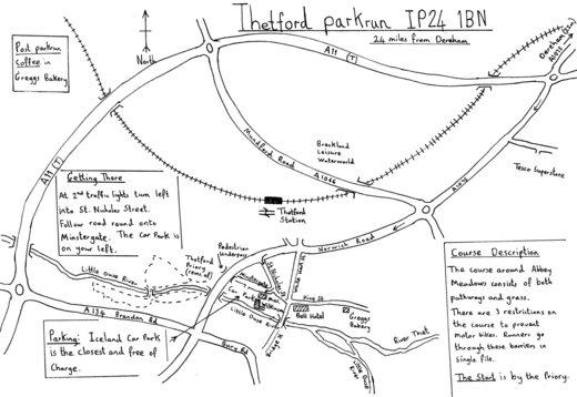 Thetford parkrun (Abbey Meadows) IP24 1BN