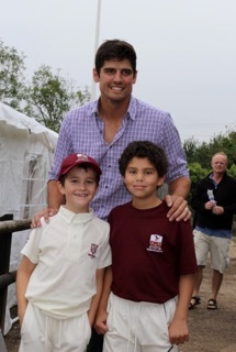 Joshua & Samuel with the Ashes winner.......and mark!