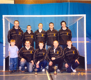Back row: Keith Joss, Tom McCulloch, Andy Maclaine, Alan Meikle, Dougie Graham.  Front row: Fraser Joss, Andrew Hilton, Graeme Campbell, Robert Black, Chris Halliday