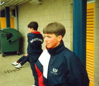 Alan Meikle gets an U-16 cap, 1996