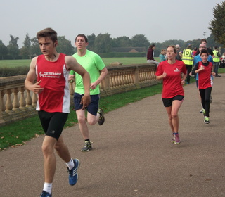 Dereham Runners Nathan Protheroe and Kareana Symonds at the Norwich parkrun 3/08/15