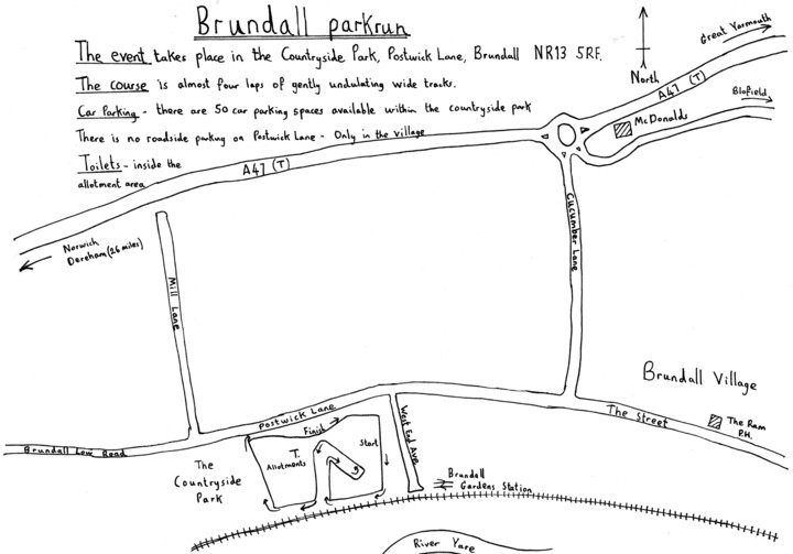 Brundall p\arkrun NR13 5RF