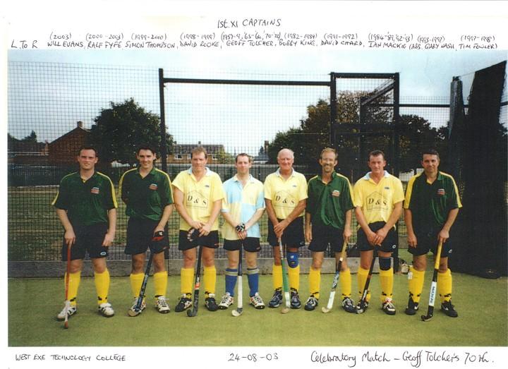 2003 Captains at G Tolcher's 70th Celebration
