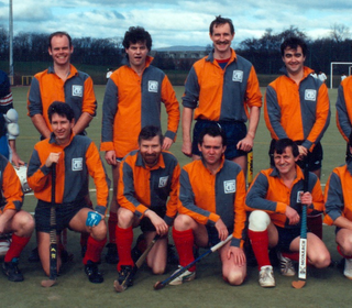 League winning 4ths from the 90s; Back row: Duncan McGregor, Steve Holt, Dave Hunter, Don Gillanders, ??, Ron Meikle; Front row: John McTaggart, Dave Ross, Graham Darroch, Iain Ross, Murdo Young, Ralph MacPherson