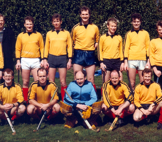 Hillhead team from 80s sporting original tops. Back row: Graham Darroch, Bill Fraser, John McTaggart, Ron Meikle, Don Gillanders, Keith Turner, Dave Hunter, ??; Front Row: Alistair Blair, Steve Holt, Murray Shaw, Steve McGregor, Martin Hunter