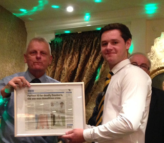 PTCC 2015 awards night: Joe Dawborn's 10 wicket story