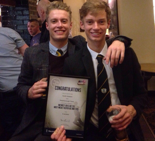 PTCC 2015 awards night: brothers, U19 T20 award winner Scott Howard, right, with Sunday 1st XI player of the year Marcus