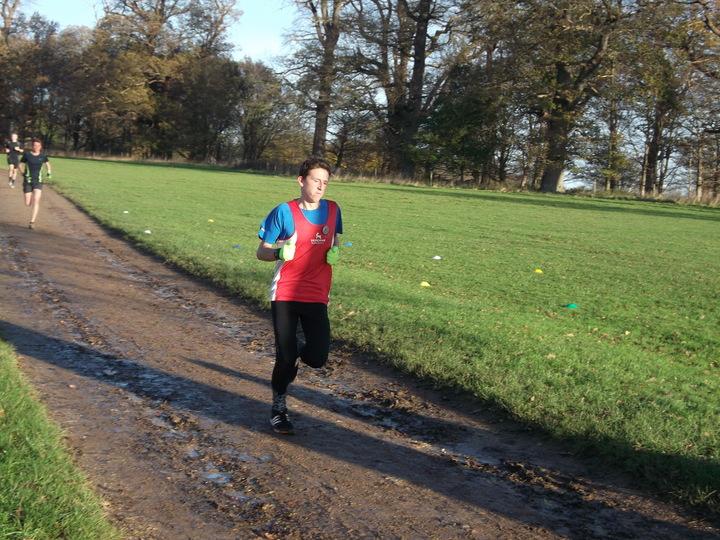 Jake Stearman running Blickling parkrun on his 16th Birthday 28/11/15