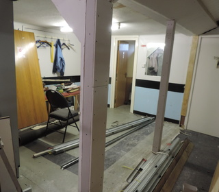 New men's changing room...