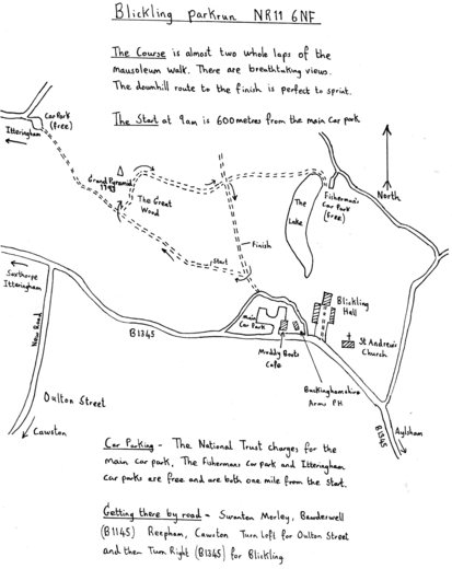 Blickling parkrun NR11 6NF (21 miles from Dereham)