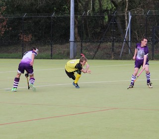 Luke Huxham and James Chard from a Penalty Corner