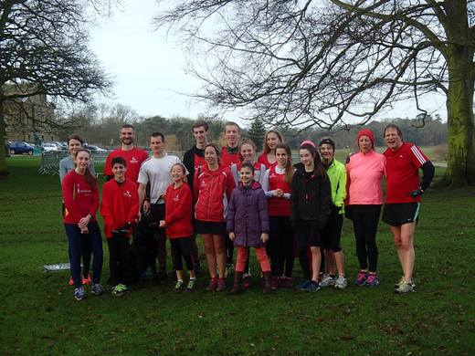 Dereham Runners at Holkham parkrun 23/01/2016
