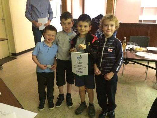 Some of the Under 8 Squad - AEGON Summer champs