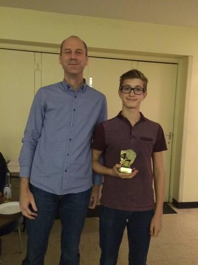 Winner Under 14 Boys Singles 2015