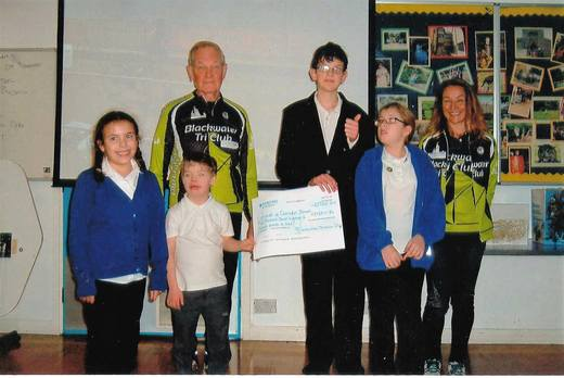 Charity Tri Cheque Presentation