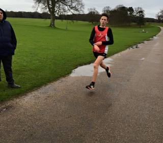 Jake Stearman finishing second at Holkham parkrun (30/01/16)