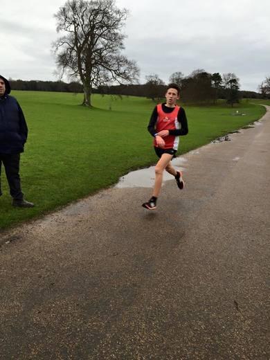 Jake Stearman finishing second at Holkham parkrun (30/01/16)